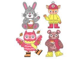卡通秋季动物收藏_16134750
