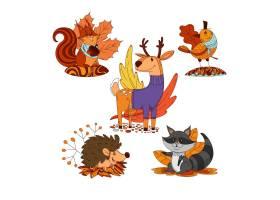 卡通秋季动物收藏_16134770