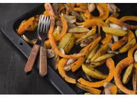 高角度美味的秋天食物组成_9604966