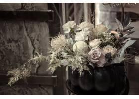 鲜花的花安排在南瓜的_10507490
