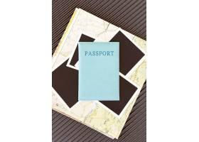 顶视图秋天旅行安排与护照_9596848
