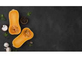 顶视图秋天蔬菜构成与拷贝空间_9605341