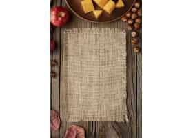 顶视图秋天食物副本空间粗麻布织物_9905683