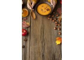 顶视图秋天食物拷贝空间木头_9905680