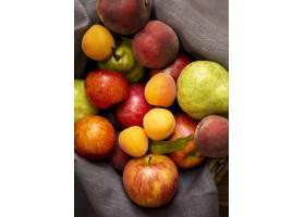 顶视图美味新鲜水果的安排_9859181