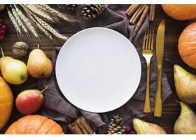 顶视图美味的食物安排_10020537