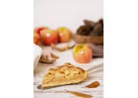 高角度感恩苹果馅饼切片_9700297