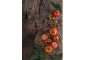 顶视图新鲜的西红柿安排_10109030