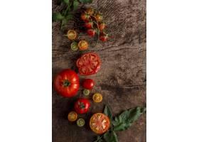 美味的西红柿安排顶视图_10109043