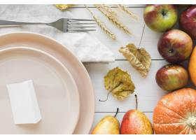 美味的感恩节食物平躺_10020487