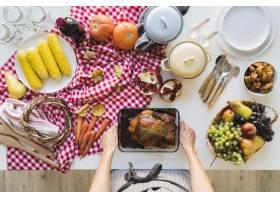 美味的感恩节食物特写镜头_10020497
