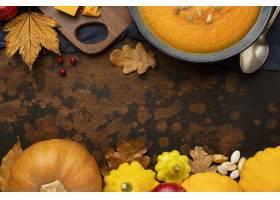 秋天食物南瓜和叶子_9905991