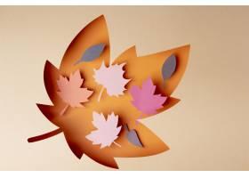 秋天安排在纸张样式_16667244