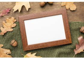 框架顶视图与秋天叶子的_9467525
