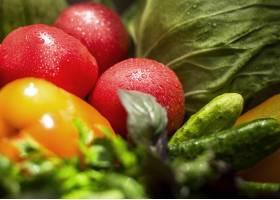 特写镜头季节性蔬菜安排_9859196