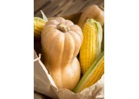 新鲜的南瓜和玉米的安排_9859184