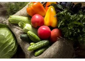 扁平的新鲜秋季蔬菜的各种各样_9851339