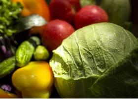 可口秋季蔬菜的正面视图安排_9851378