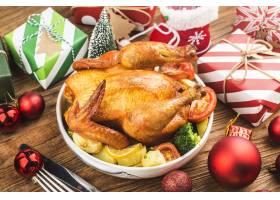 烤整鸡与圣诞节装饰_11548007
