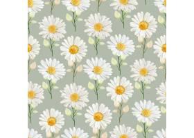 水彩菊花无缝模式_14901184