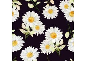 水彩菊花无缝模式_14901192