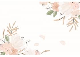 水彩葡萄酒花卉背景_14449656