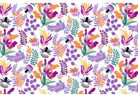 涂上异国情调的花卉图案_12062595
