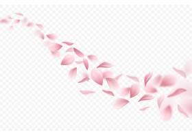 现实飞行的樱花瓣例证_7251959
