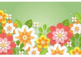 纸张样式花卉背景_15693985