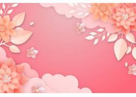 纸张样式花卉背景_16133690