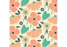 桃子色调的花卉图案设计_14642846