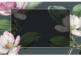桃红色开花的花卉框架传染媒介_16175399