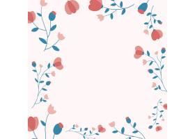 桃红色花卉框架背景传染媒介女性样式_16397481