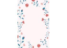 桃红色花卉框架背景传染媒介女性样式_16397487