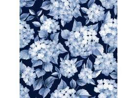 植物无缝模式盛开的绣球花_10120997