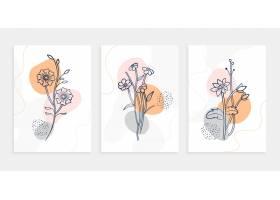 植物花线艺术海报模板集_14649156