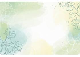 水彩壁纸与手绘元素_12552263