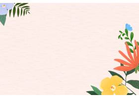 在纹理背景的花框架传染媒介_16264620
