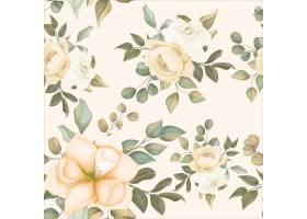 与软的花的现代花卉无缝的样式_13064310