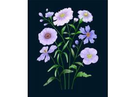 一套鲜花涂有水彩画陪伴各种卡片和贺卡_163046