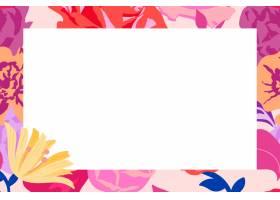 与桃红色玫瑰的女性花卉长方形框架传染媒介_16266646