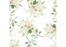 与柔和的颜色的花卉无缝的样式_10543783