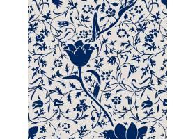 葡萄酒郁金香花无缝的样式背景_16351866