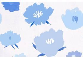 蓝色花卉样式背景手拉_15076310