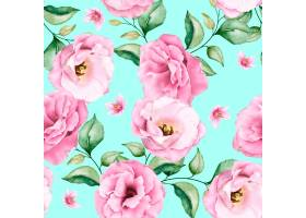 软粉红色水彩花卉无缝模式_13677632