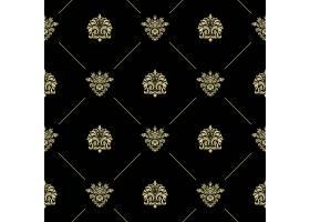 金色皇家巴洛克式的复古无缝模式黑色壁纸_11059633