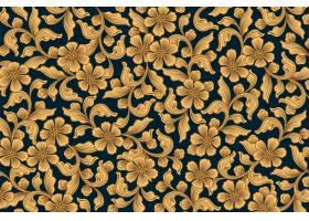 金色装饰花卉壁纸_6929457