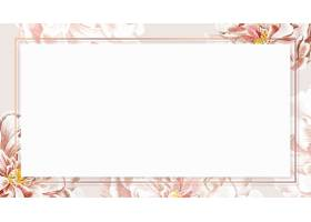金黄花卉牡丹框架壁纸传染媒介_16175668