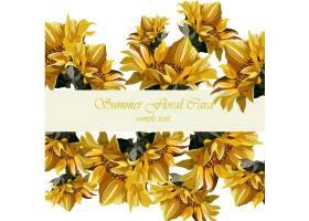 黄色花背景设计_1134488