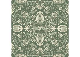 绿色花卉无缝的样式背景_12459368